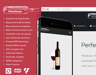 Wine WordPress Theme - Wine Template by Visualmodo