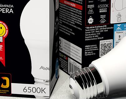 Embalagem Pera LED Avant