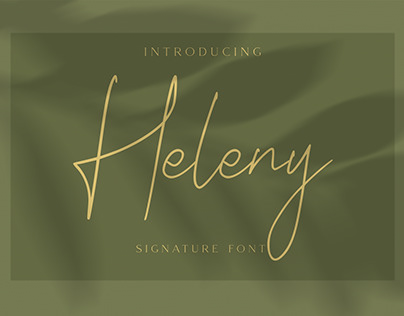 Heleny - Signature Script Font (Free Download)