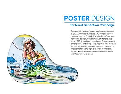 Poster Design for Rural Sanitation Campaign