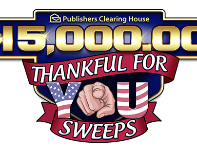 PCH $15,000.00 Thankful For You Logo