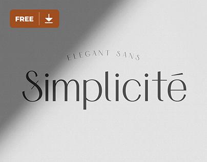 Font Freebie - Simplicité
