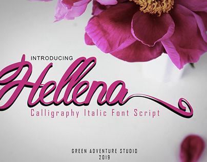 Hellena - Calligraphy Script