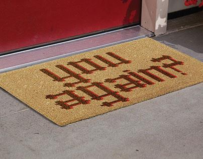 unconventional doormats