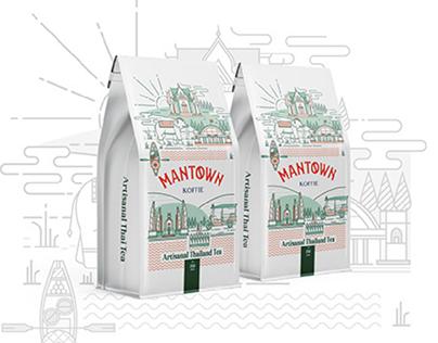 Thai Tea Branding for ManTown Koffie