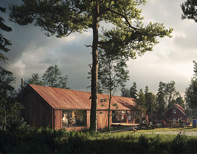 Sørli Visitor Center – Architectural Visualization