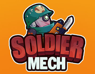 Spine 2D Animation - Mech Soldier Character