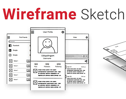 Mobile App Wireframe sketch using Balsamiq