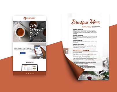 Servizio Email Designs With Incorporated Print Element
