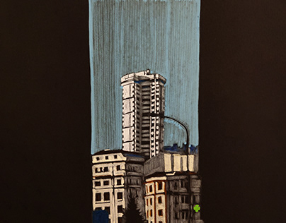Architecture drawings with Posca markers