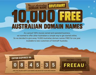 VentraIP Aus: The Great Australian Domain Name Giveaway