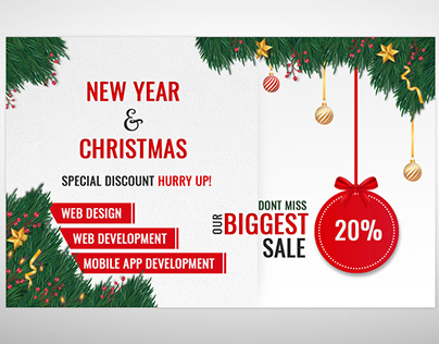 New Year and Christmas Promotion Banner