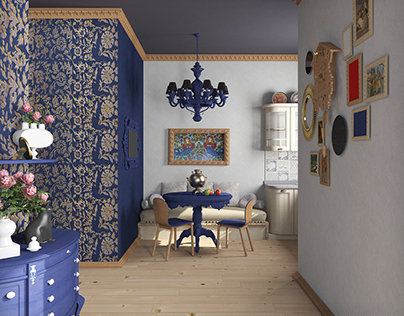 APARTMENT IN RUSSIAN STYLE