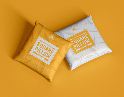 Free Branding Square Pillow Mockup