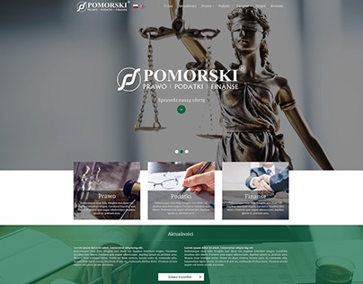 Projekt strony internetowej firmy Pomorski.pl