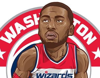 NBA players illust