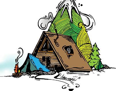 Digital Art - Camping Setup