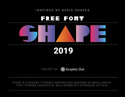 Shape font