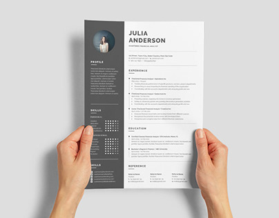 Free Chartered Financial Analyst Resume Template