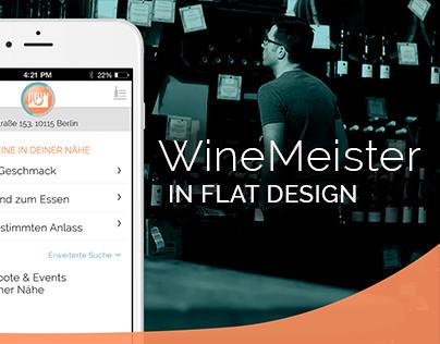 Winemeister App   Flat Design