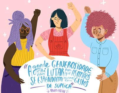 EDITORA MOL - Frase Paulo Freire