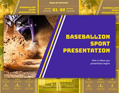 Baseball Club - free Google Slides Template