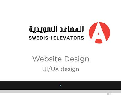 Swedish Elevators website Ui Ux design