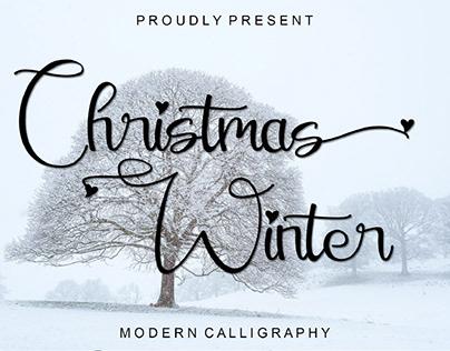 FREE | Christmas Winter Decorative Script