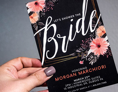 Morgan & Danny Bridal Shower Invites