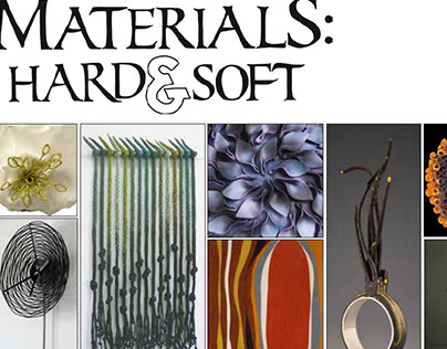 Materials: Hard & Soft exhibition catalog cover