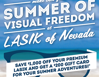 Lasik of Nevada Summer Event Flyer