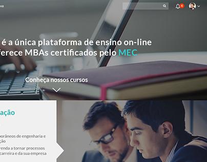 Estudo de layout: página de lista de MBAs