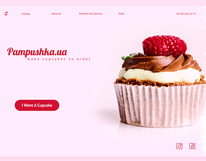 Landing Page : Cupcake Store