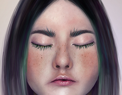 Realistic Female Character Painting Speed Painting On Behance