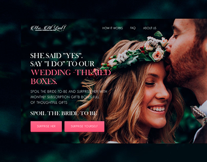 Shopify theme development - Wedding Boxes Subscription