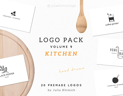 Logo Pack Volume 9. Kitchen