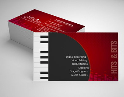 Hits & Bits Visiting Card (Sound Recording Studio)
