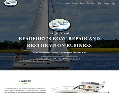 WIP: Ace Basin Boatworks Website