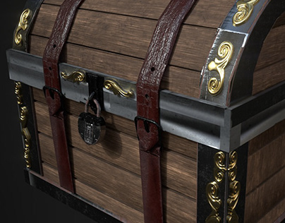 Decorative Medieval chest