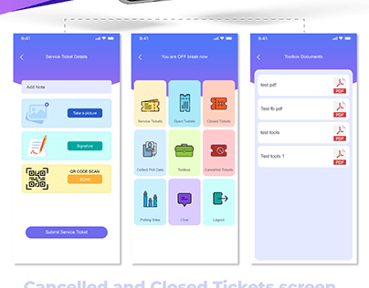Election Maintenance and management system app UI