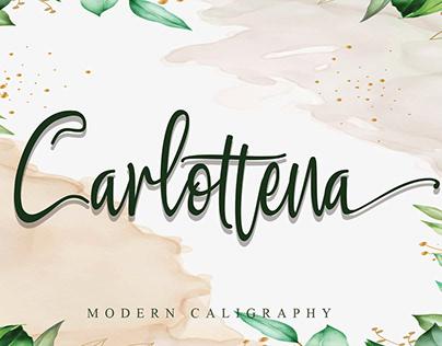 Free Carlottena Caligraphy Font