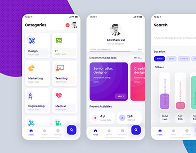 Booking app UI kit free for adobe XD on Behance