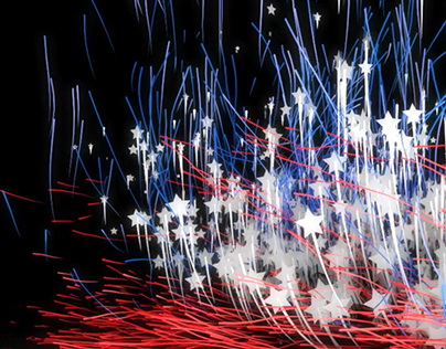 American Logo Particles Reveal
