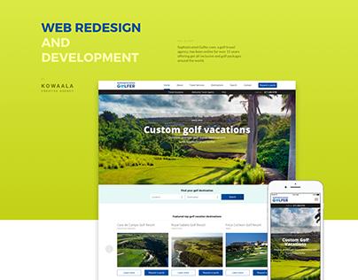 Sophisticated Golfer.com, WordPress Website