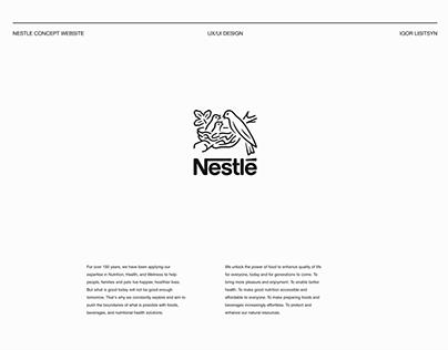 Nestle – redesign website