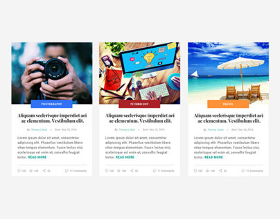 This is the DailyUI shot #035 - Blog Post