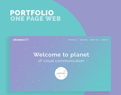 Nitromi ART ● portfolio one page website
