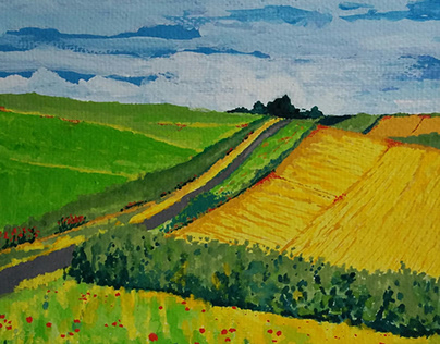 Cornfields and poppies