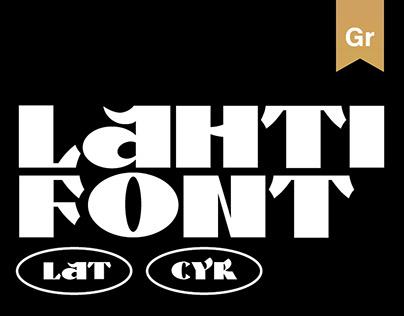 Lahti-free font