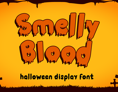 Smelly Blood | Halloween Font